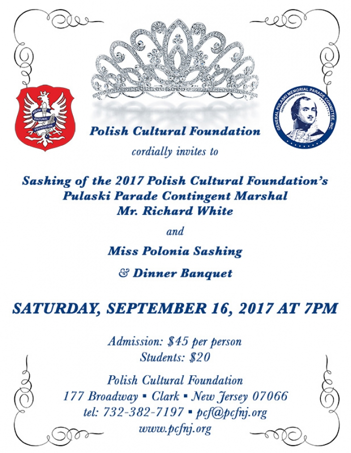 Sashing of the 2017 PCF's Pulaski Parade Contingent Marshal & Miss Polonia