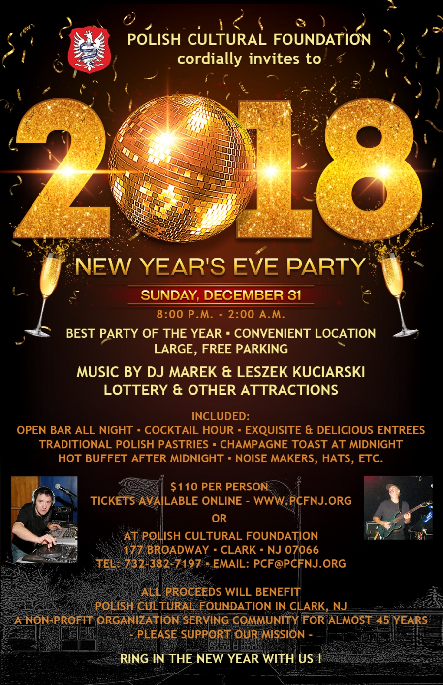 New Year's Eve Party at PCF, NJ
