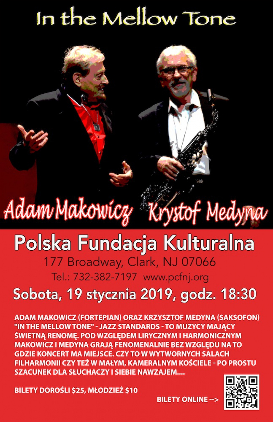 "Makowicz, Medyna ""In the Mellow Tone"" - concert"